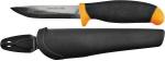 Нож строительный в ножнах нержавеющая сталь 100 мм, FIT, 10615