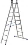 Лестница двухсекционная алюминиевая, 2х8 ступеней, H=224/364 см, вес 7,2 кг, FIT, 65428