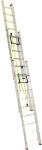 Лестница трехсекционная усиленная профессиональная с канатной тягой 3х23 (6520/16880, 72 кг), АЛЮМЕТ, 3323