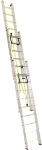 Лестница трехсекционная усиленная профессиональная с канатной тягой 3х24 (6800/17720, 75 кг), АЛЮМЕТ, 3324