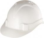 Каска защитная из ударопрочной пластмассы, белая, СИБРТЕХ