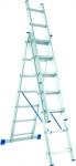 Лестница, 3 х 9 ступеней, алюминиевая, трехсекционная, СИБРТЕХ, 97819